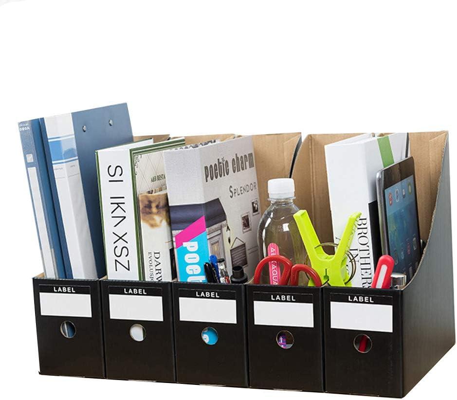 Dokumentenschreibtischablage B/üroablage Ablage A4 Ablagen Kartei,Briefablage Ordnungssystem,Schwarz WJYLM Vertikale Ablage Kraftpapier