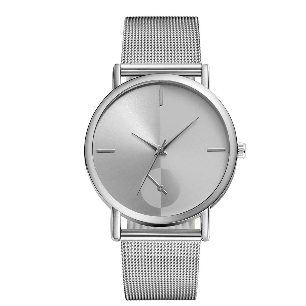 JDgoods MEIBO Luxury Starry Sky Quartz Watch Stainless Steel Magnetic Buckle Band Waterproof Watches Stylish & Elegant Men's and women Watches (Silver)