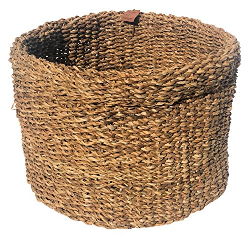 The Made by Nature Roll-top Round Chunky Weave Seagrass Basket, 12