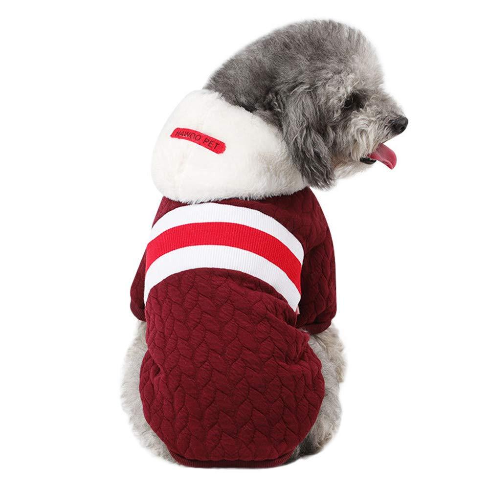 Malloom Bequeme Haustier Kleidung Festival Kleid Pullover Strickware Hundepullover Hundemantel Katzen Kleidung Klamotten Warm Wintermantel Haustier Mantel Malloom-Bekleidung