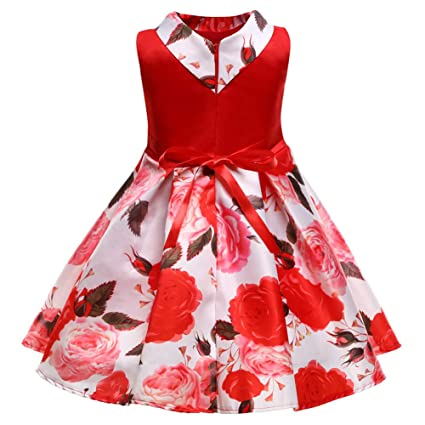 GXYCP Vestido para Las Niñas De Flores De Arco Cóctel Fiesta De La Boda Navidad Vestido