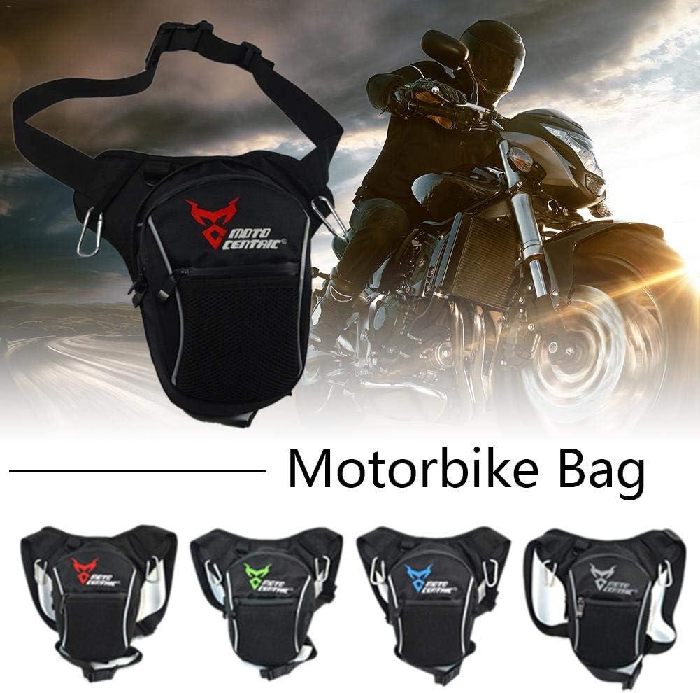 juman634 Moda Motocicleta Gota Pierna Bolsa Nylon Impermeable Al Aire Libre Casual Bolsa de Cintura Motocicleta Moto Crossbody Bolsa de Hombro