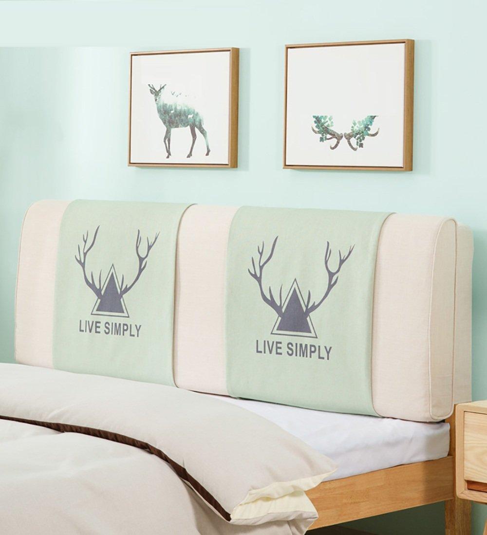 LIQICAI Vivre Simple Tête de lit Coussin Dossier Soutien pour Unique - Double - Grande taille- Lit Têtes de lit Couverture