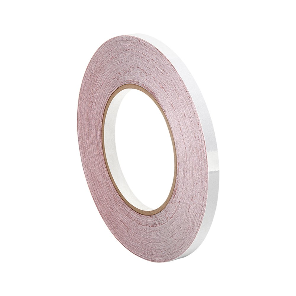 TapeCase 3M 5557 0.25'' x 36yd White Polyester/Paper/Acrylic Adhesive Water Contact Indicator Tape, 0.01'' Thickness, 36 yd Length, 0.25'' Width