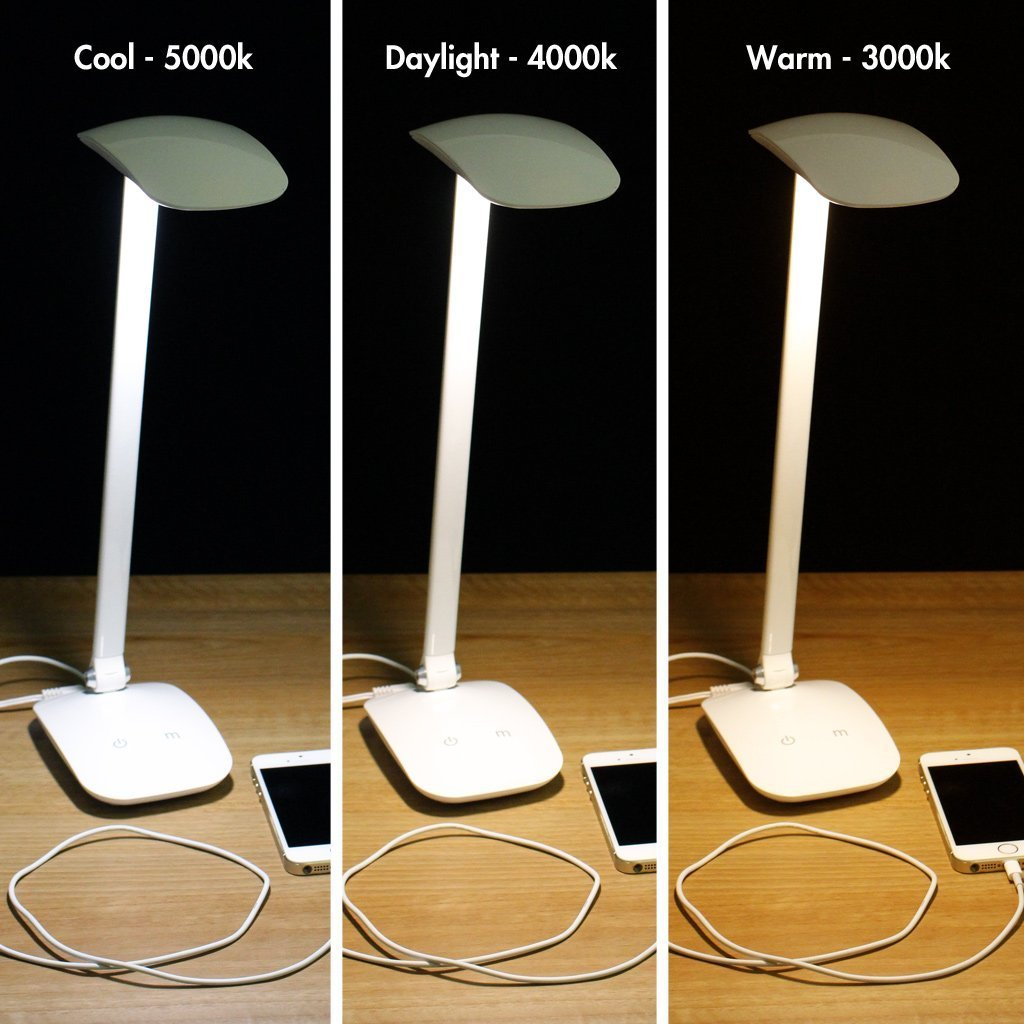 Amazon.com Newhouse Lighting 5W Designer LED Desk L& w/ Brightness Dimmer and USB Charging Port White Home Improvement  sc 1 st  Amazon.com & Amazon.com: Newhouse Lighting 5W Designer LED Desk Lamp w ... azcodes.com