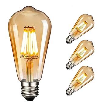 Vintage Deko Nostalgie Lampe 5W, E27 LED Edison Retro Superglobe XXL Glühbirne
