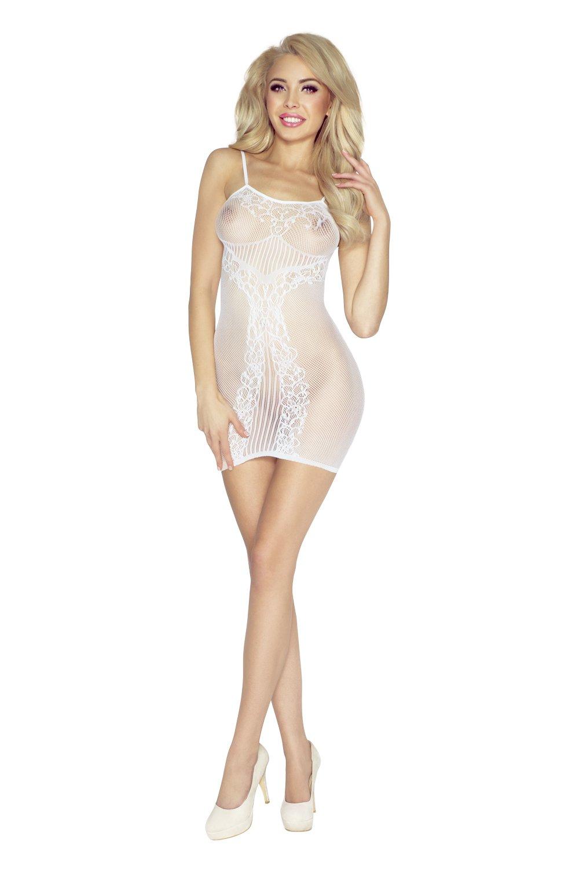 wei¤ es Netz-Kleid PR4956 von Provocative Provocative Dessous