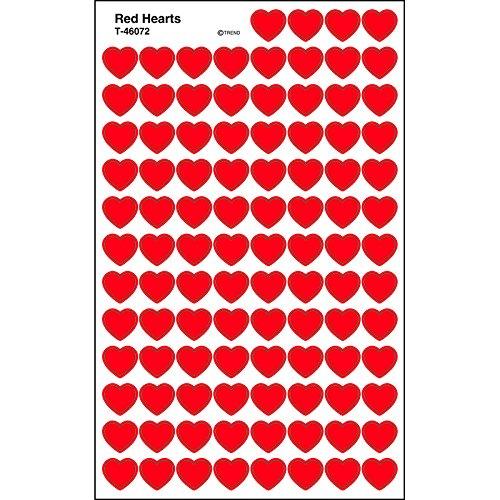 Trend Enterprises Red Hearts Super Shapes Stickers (T-46072)
