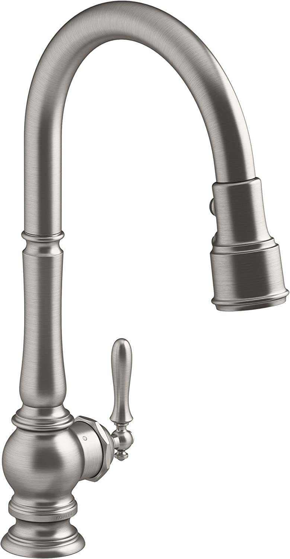 KOHLER K-29709-WB-VS Cash special price Artifacts Kitchen Vibrant Stai Jacksonville Mall Faucet Sink