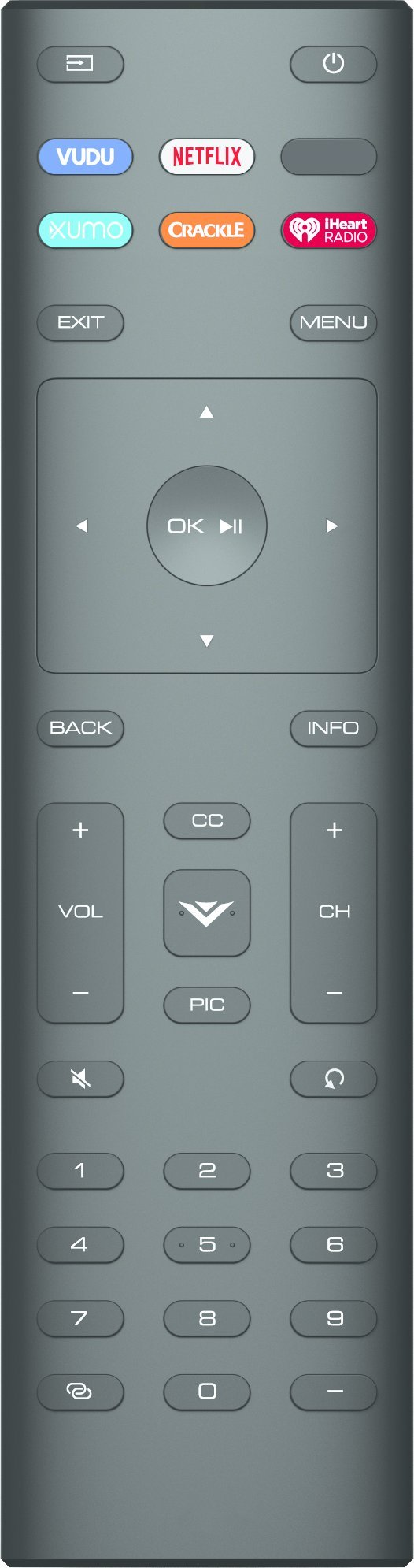 Xtrasaver Remote Control 2017 Model  compatible with Vizio XRT136
