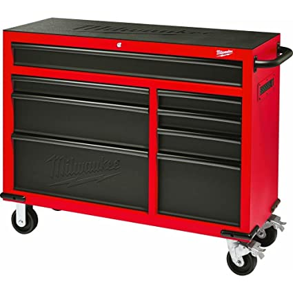 Milwaukee Heavy Duty Red U0026 Black 46 In. 8 Drawer Rolling Steel Storage  Cabinet