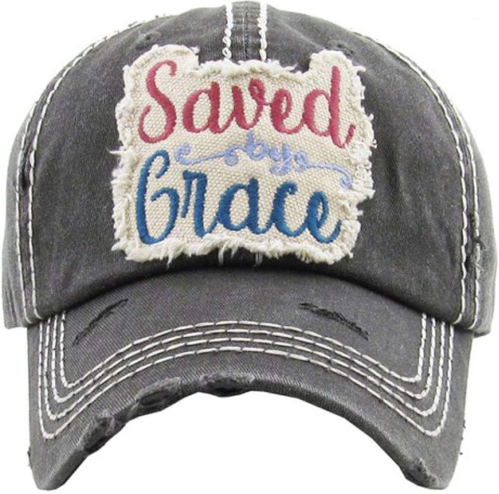 Women's Saved by Grace Vintage Baseball Hat Cap