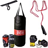 BENLEE Rocky Marciano 199077 Punchy Kit de boxe avec sac de frappe pour enfant Noir Taille unique