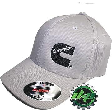 Dodge Cummins Truck Diesel Cummings Gray Flexfit Hat Ball Cap Fitted Flex  Fit L xl 89a9e21341cd