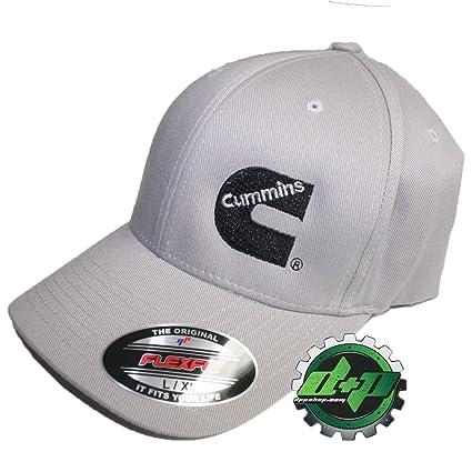 d883b36b33b Amazon.com  Dodge Cummins Truck Diesel Cummings Gray Flexfit Hat Ball Cap  Fitted Flex Fit L xl  Home Improvement