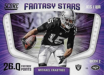 Amazon.com  2018 Score Fantasy Stars  2 Michael Crabtree NM-MT ... 5baa1eaa3