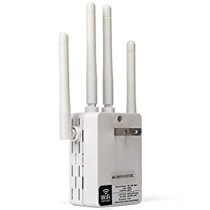 5GHz WiFi Range Extender - 1200Mbps WiFi Long Range Extender Repeater/Access Point/Router Dual Band Wireless Signal Booster & Gigabit Ethernet Port WiFi Range Amplifier 4 External Antennas (Color: 1200Mbps, Tamaño: 5G WiFi Range Extender 1200Mbps)