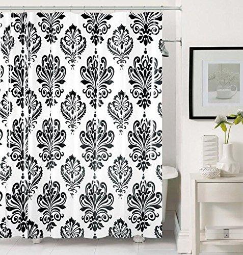 black white damask shower curtain - 9