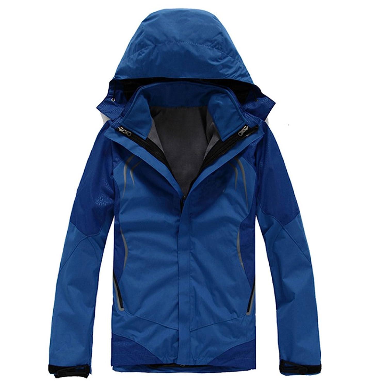 Wolfmen メンズ アウトドアジャケット パーカコートとソフトコート セット 全6色 防風防寒 ウインドブラスト パーカ スポーツウェア 登山 トレッキング 秋冬用 軽量 ウィンドブレーカー S-2XL