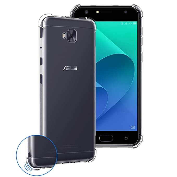 4 opinioni per Custodia ASUS ZenFone 4 Selfie ZD553KL, Siuber Ultra Slim Trasparente Crystal