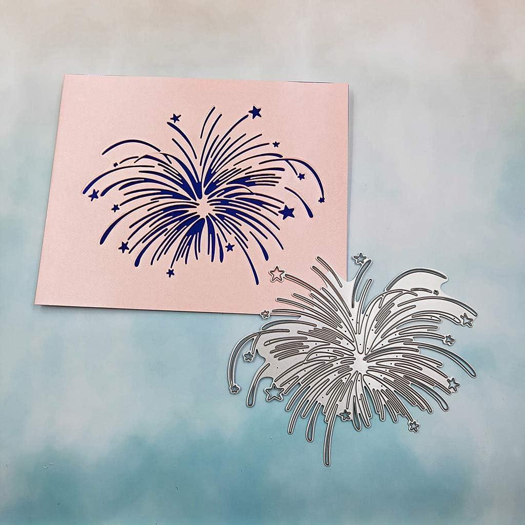 Kohlenstoffstahl Romantische Feuerwerk Stanzen Sterben Pr/ägeschablone Schablone Form DIY Papier Kunsthandwerk Sammelalbum Lesezeichen Karte Decor