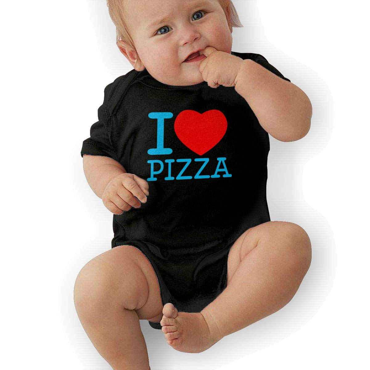 Unisex Baby Short Sleeve Organic Bodysuit I Love Pizza Baby Clothes