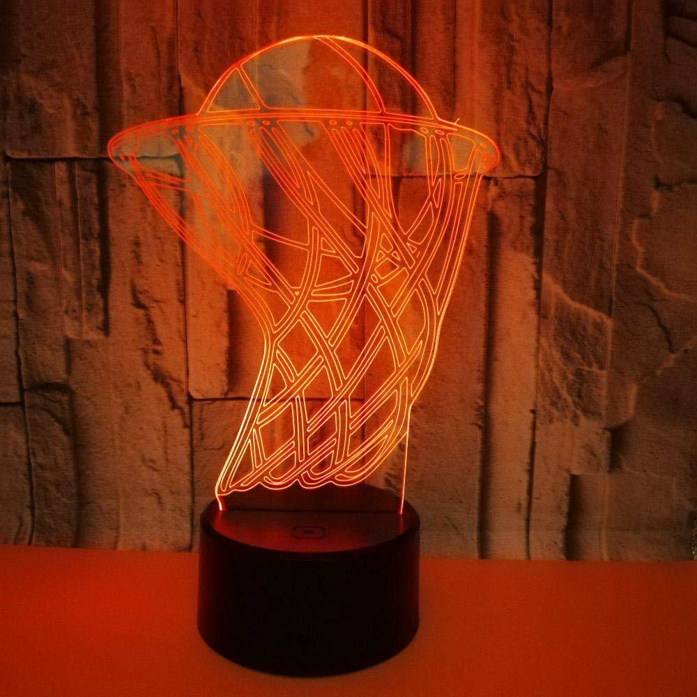 DMSTYLE® Nueva canasta de baloncesto Luz 3D Luz táctil colorida ...