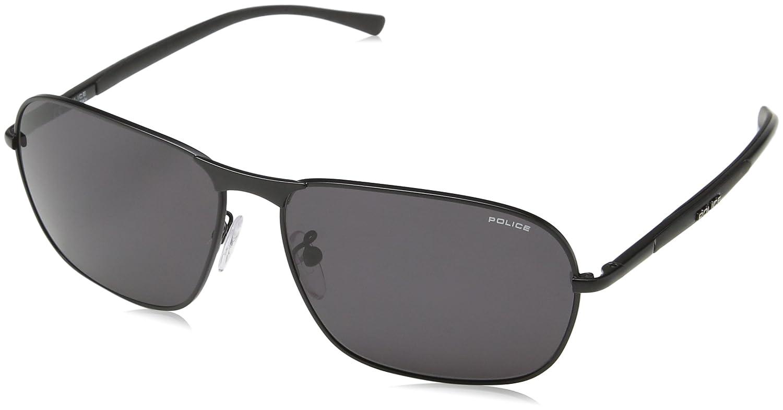Police Herren Sonnenbrille S8967, Grau (Semi-Matt Black), Einheitsgröße