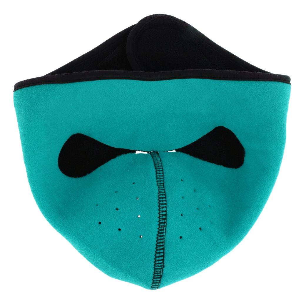 B Blesiya Passamontagna Maschera Facciale in Pile Antivento Antipolvere per Sci Equitazione, Neutro - Orange M, come descritto