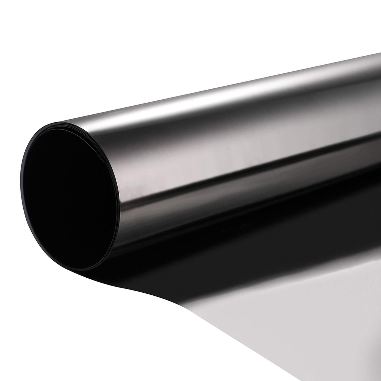 "Coavas Window Film One Way Mirror Solar Film Non Adhesive Heat Control Anti UV Window Tint for Home and Office, 23.6"" x 78.7"""