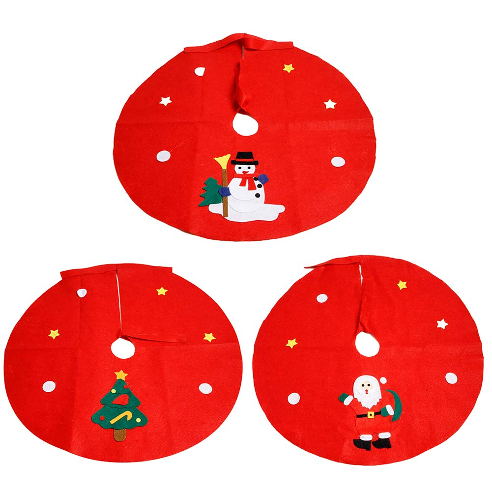 Yinpinxinmao Christmas Tree Santa Snowman Style Floor mat.Ground Cover Apron Party Xmas Decoration Christmas Tree# L by Yinpinxinmao (Image #3)