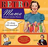 Retro Mama 2019 18-Month Wall Calendar Planner, 12 x 12; (CP-0484)