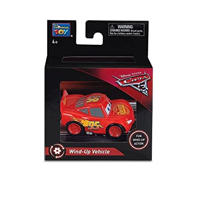 "Disney Pixar Cars 3 - 2.5"" Wind Up Vehicle - Lightning McQueen: Toys & Games"
