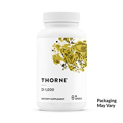 Thorne Research - Vitamina D-1000 - Suplemento Vitamina D3-1000 UI - 90