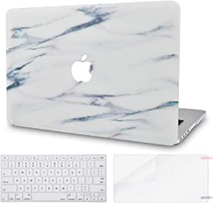 LuvCase 3 in 1 LaptopCase forMacBookAir 13 Inch A1466 / A1369 (No Touch ID)(2010-2017) HardShellCover, Keyboard Cover & Screen Protector(Crystal Marble)