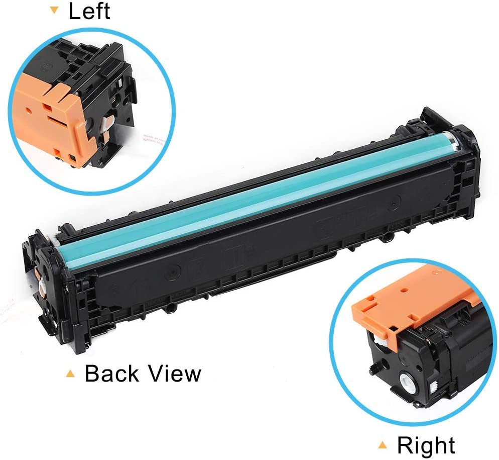 1 Set CRG MF8280Cw LBP7110Cw Printer Tuobo Compatible Toner Cartridge Replacement for H-P 131A CF210A 131X CF210X CRG 131,use in H-P Laserjet Pro 200 Color M251nw H-P MFP M276nw M276n