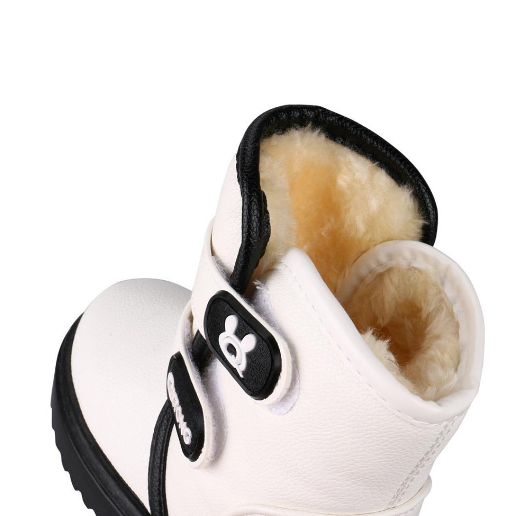 Bebé niña niño zapatos, Yannerr antideslizante Invierno nieve gruesas botas zapatillas (24, blanco): Amazon.es: Ropa y accesorios