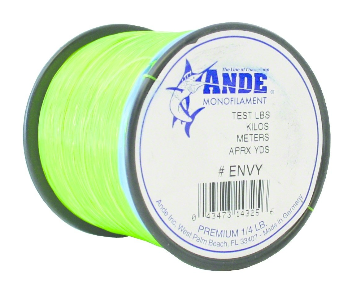 Ande Monofilament Line Envy Green, 30 -Pounds Test, 1 4 Spool