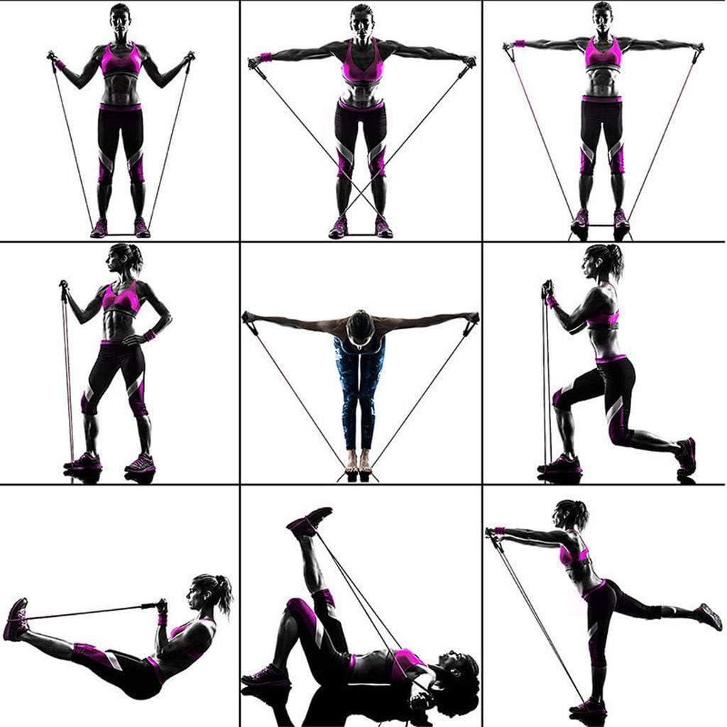 11 PCS Ensemble de Bandes de R/ésistance de Yoga Bande dentra/înement Elastique Musculation Tube de R/ésistance Convient pour Les Sports dint/érieur et de Plein Air Fitness Yoga Gym Pilates Extenseurs