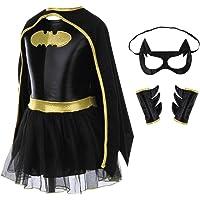 Ants House Children Girls Batman Batgirl Fancy Dress Superhero Costume Outfits Comic Cosplay