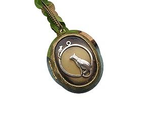 Animal locket Necklace , Bronze Cat locket , Cat & Mouse locket Necklace , Crazy Cat Lady , Bronze Necklace