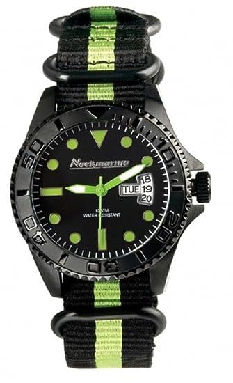 Neck Marine - Reloj - SerieCockpit Nkm99310 - Color : Pistacho-Negro
