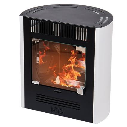 Divina Fire estufa de bioetanol Blanca 2300 W Calefacción Casa 25 m² Elena