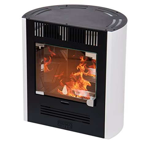 Divina Fire estufa de bioetanol Blanca 2300 W Calefacción ...