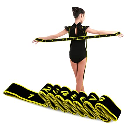JJunLiM Banda de Estiramiento para niñ sy Adultos 15 kg Banda elástica de Resistencia para Pilates, Yoga,Fitness,Gimnasia,Crossfit y Danza,para ...