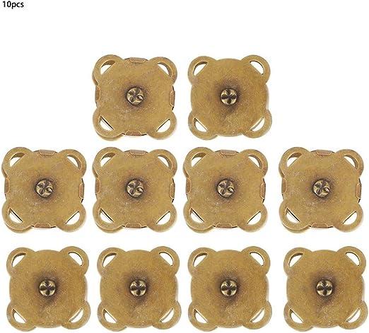 10Pcs Magnetknöpfe Magnetverschluss magnetischer Druckknopf Kleidung Nähen