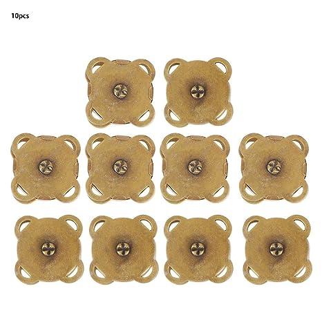HEEPDD 10 Piezas 18.5 mm botón magnético broches para Coser ...