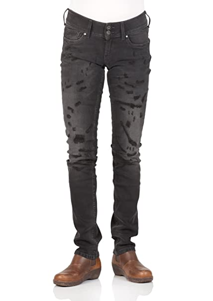 Powerflex Regular Fit Black Schwarz Pepe Jeans London Damen