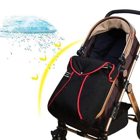 Househome - Saco universal para cochecito de bebé, impermeable y resistente al viento, para cochecito de bebé, cochecitos y cochecitos negro negro
