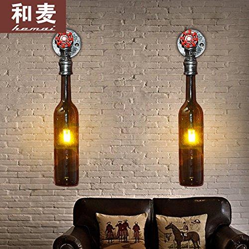 Winson Aire Industrial Retro Botella de Cerveza Apliques de pared de tubo de Luz Creativa personalidad restaurante decorado en vista Dormitorio Estudio ...